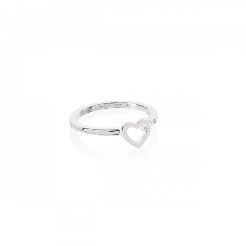 Daisy Good Karma Stacking Ring - Open Heart