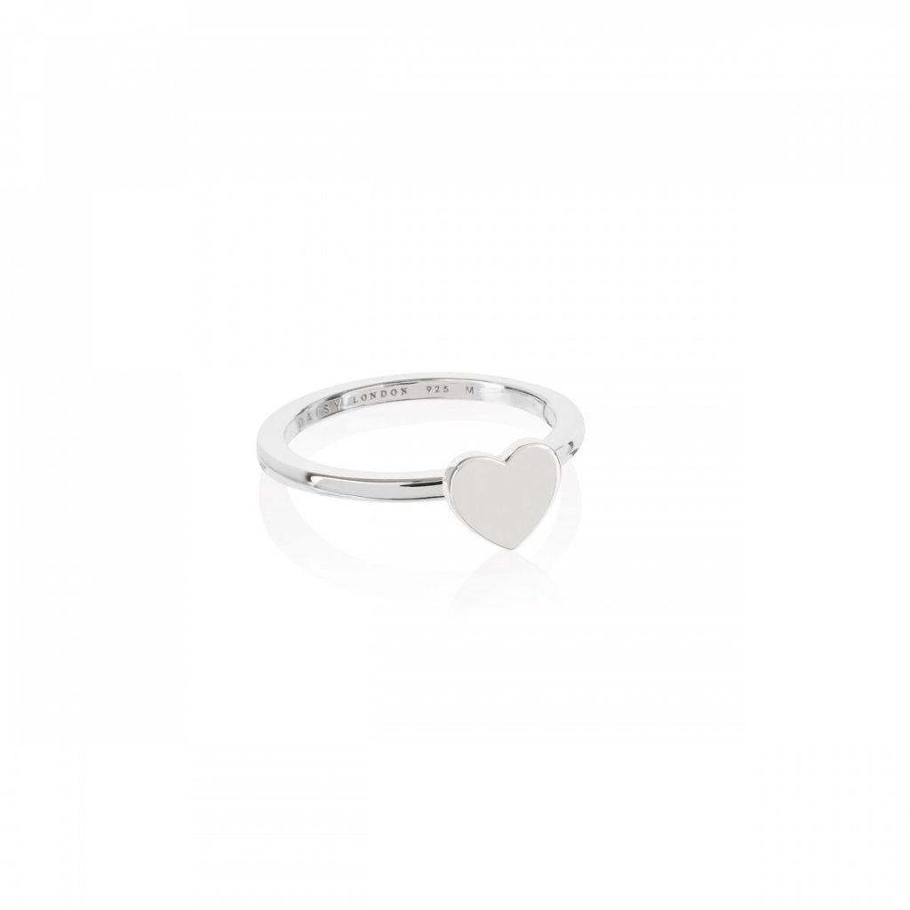 Daisy Good Karma Stacking Ring - Heart