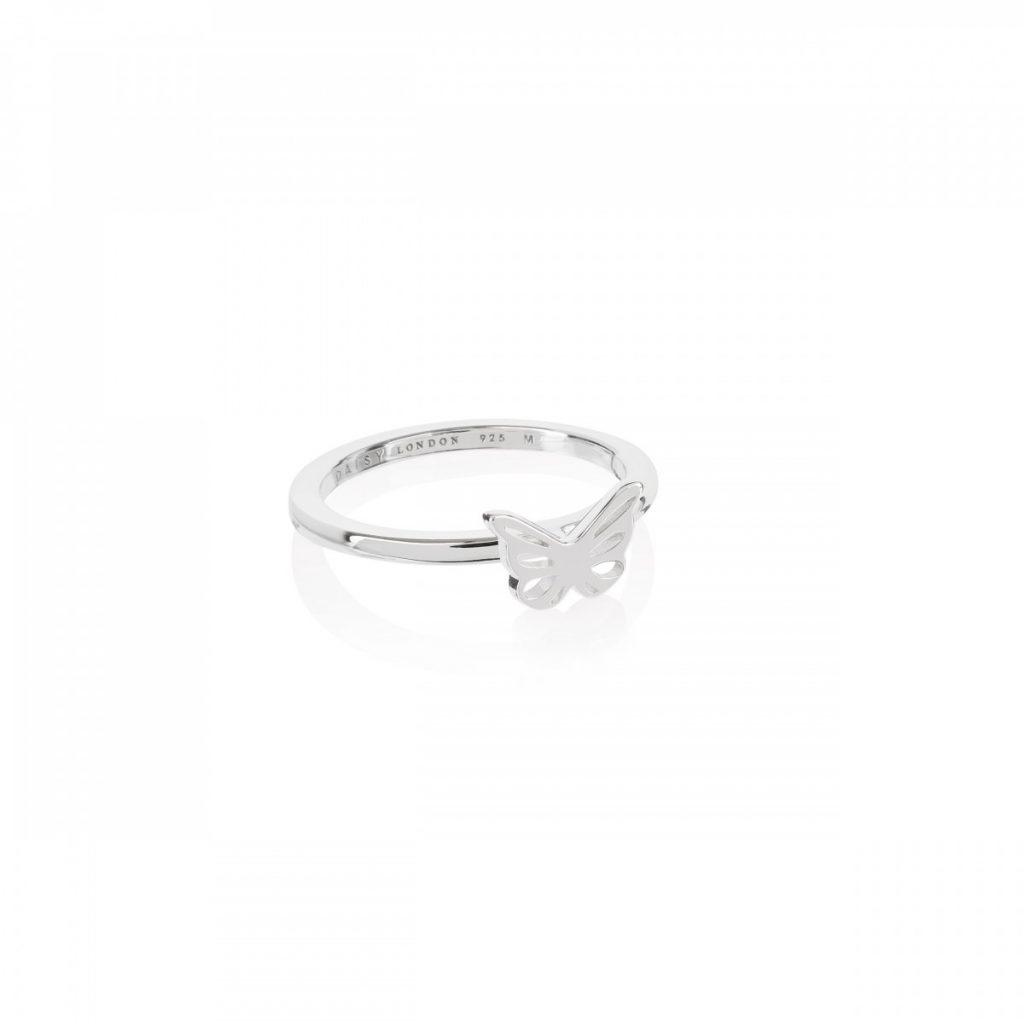 Daisy Good Karma Stacking Ring - Butterfly