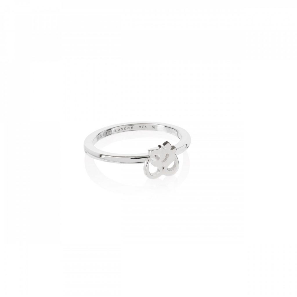 Daisy Good Karma Stacking Ring - Om