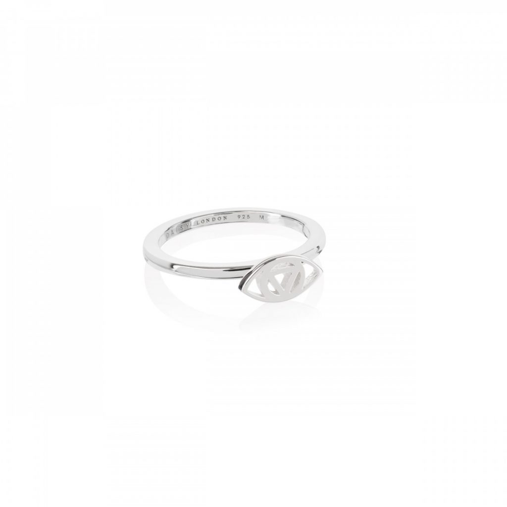 Daisy Good Karma Stacking Ring - Evil Eye