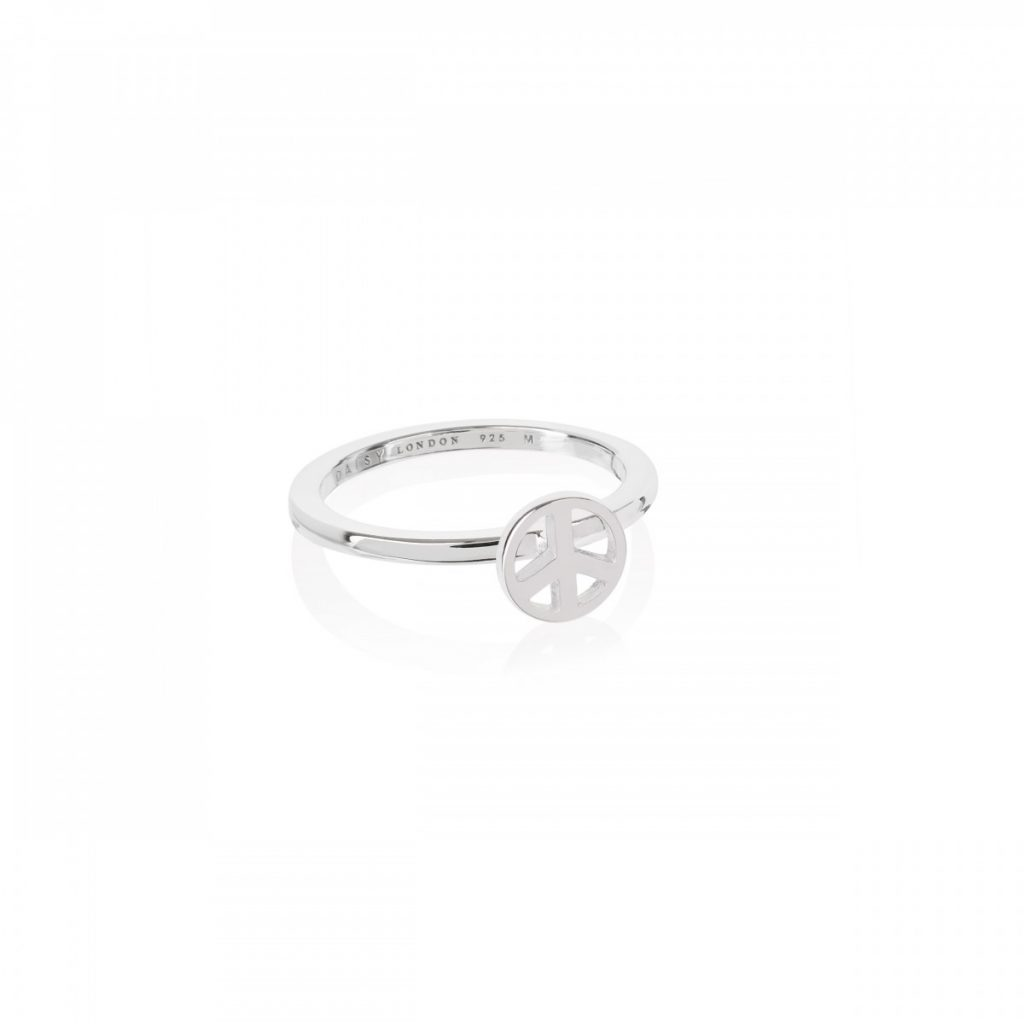 Daisy Good Karma Stacking Ring - Peace