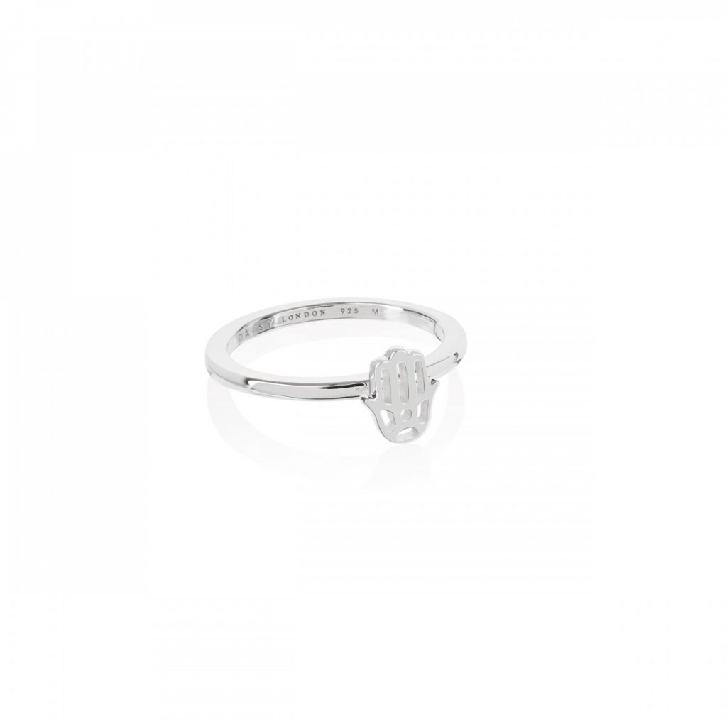 Daisy Good Karma Stacking Ring - Hand of Fatima