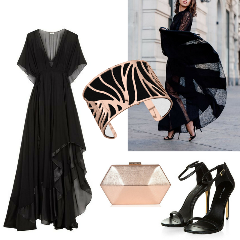 Les Georgettes - Black Bangle - Eveningwear