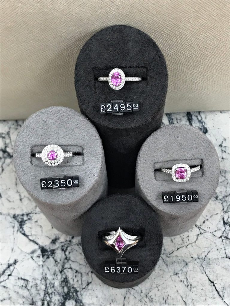 Lady Gaga Pink Diamond Cluster Rings - Style Steal