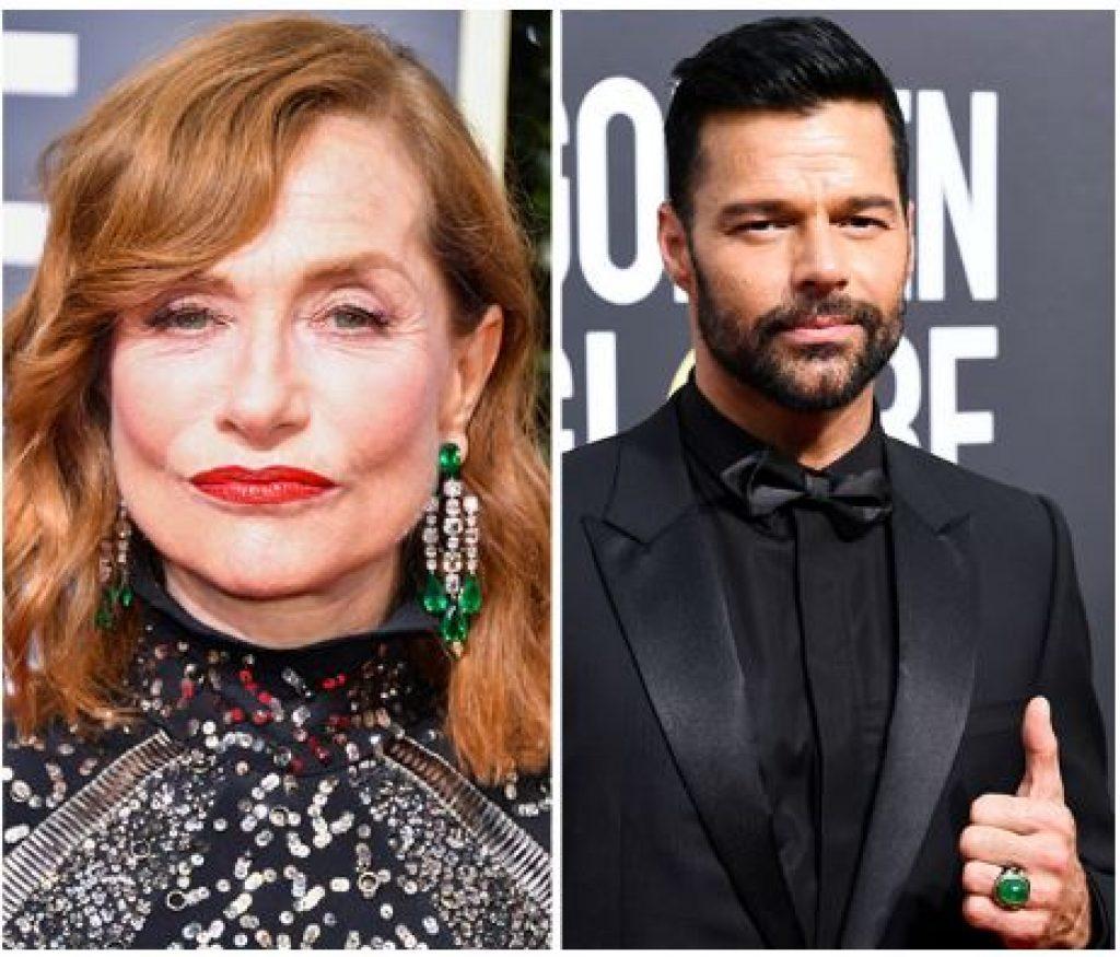 Golden Globes 2018 - Emerald - Isabelle Hupert - Ricky Martin
