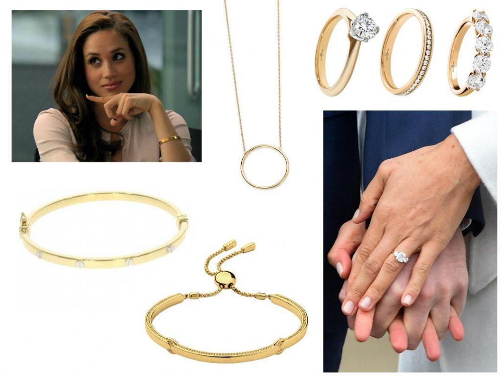 Meghan Markle Jewellery - Gold