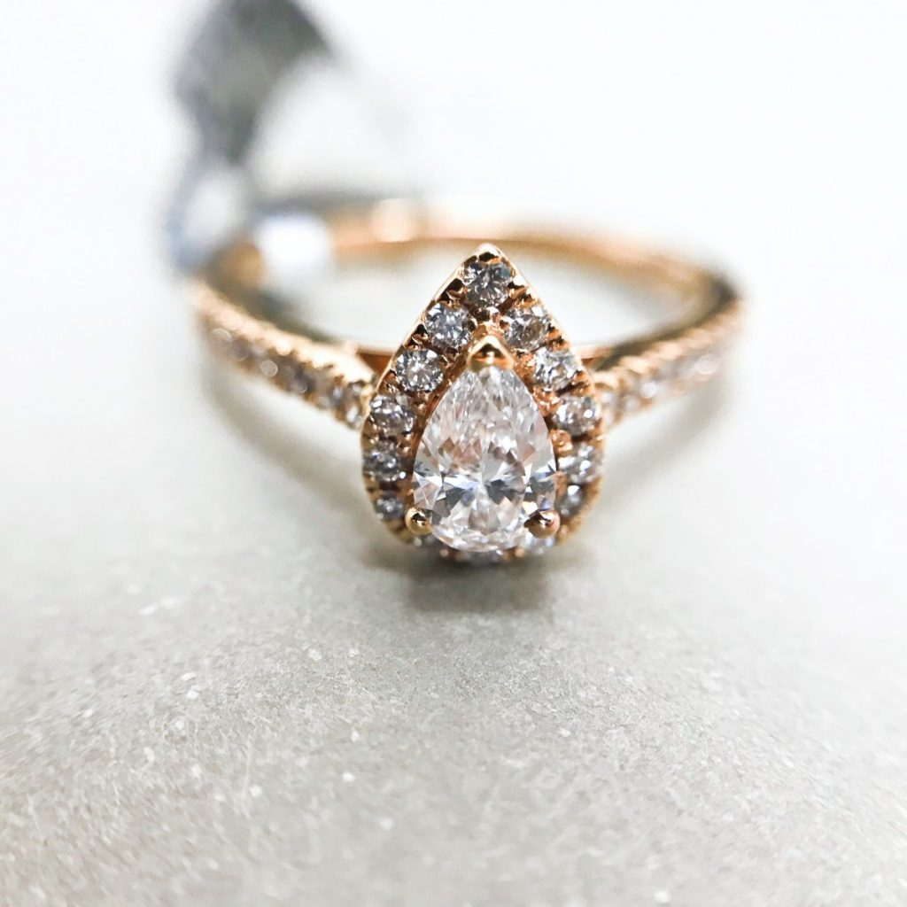 18ct Rose Gold Diamond Cluster Ring - (01-05-108)