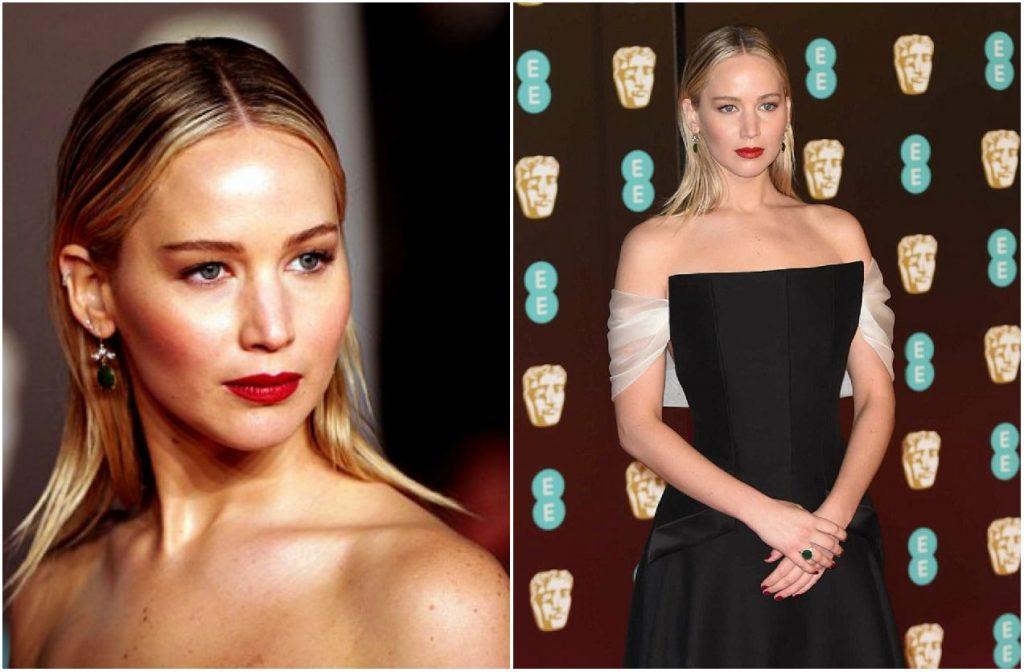 BAFTAs 2018 - Jennifer Lawrence - Emerald Jewellery - Montage