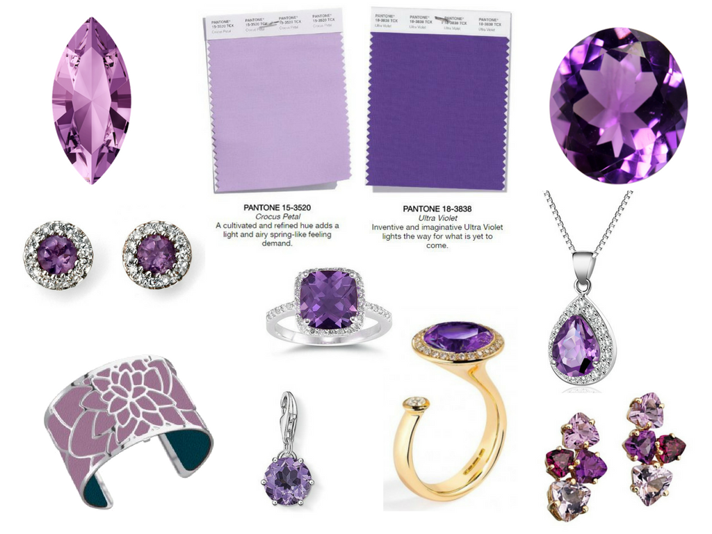Pantone AW18 Purple Colours - Ultra Violet - Crocus Petal