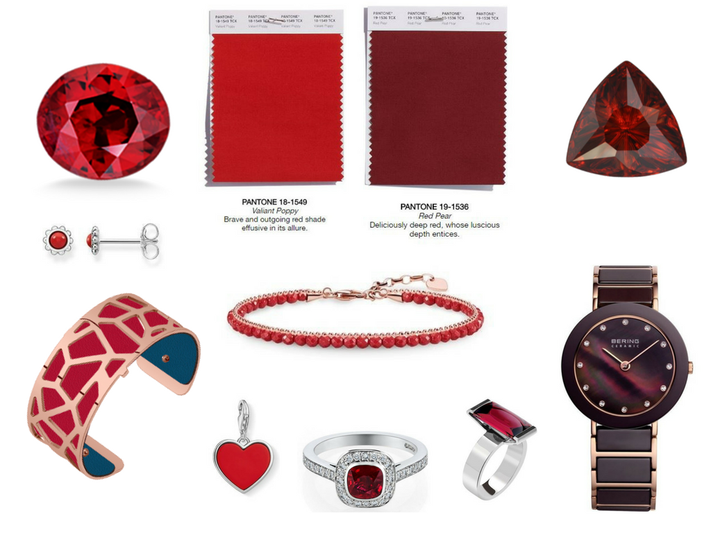 Pantone AW18 Red Colours - Valiant Poppy - Red Pear