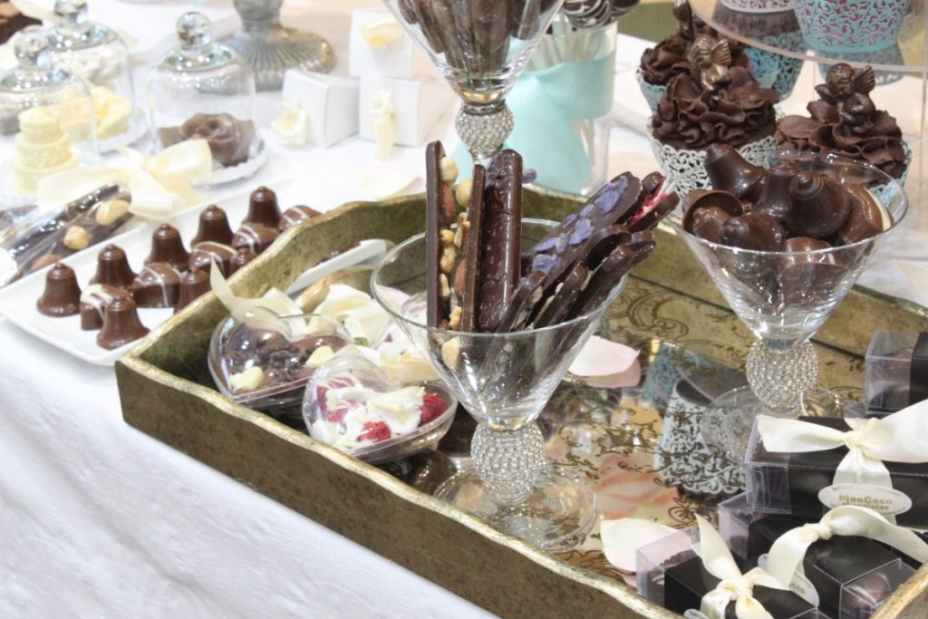 Boutique Bridal Event at Wakefields Jewellers - MooCoCo Chocolate Bridal Display