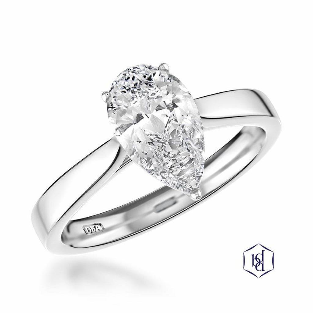 Pear Cut Diamond Ring at Wakefields Jewellers Horsham