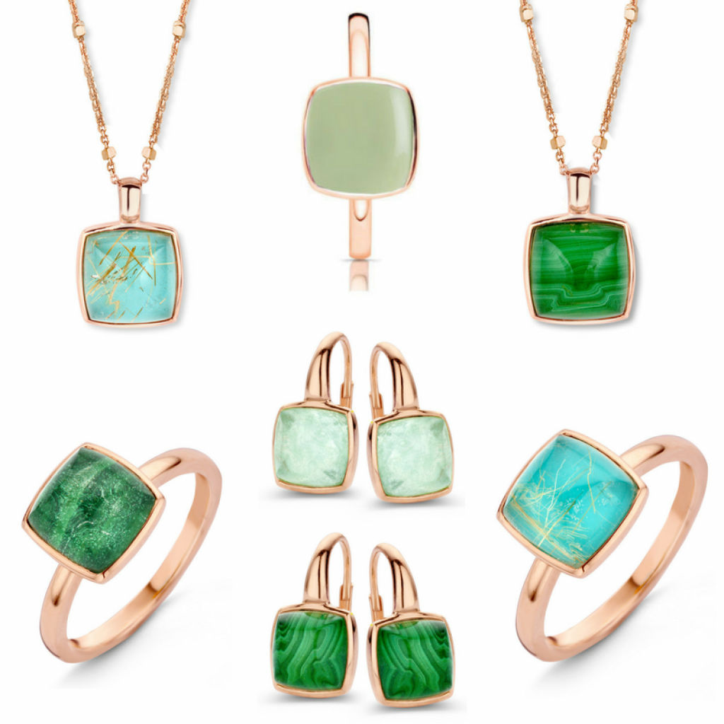 One More - Malachite Turquoise Prasiolite Jewellery
