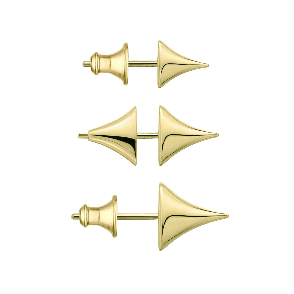 Shaun Leane Rose Thorn Collection - Rose Thorn Yellow Gold Stud Earrings