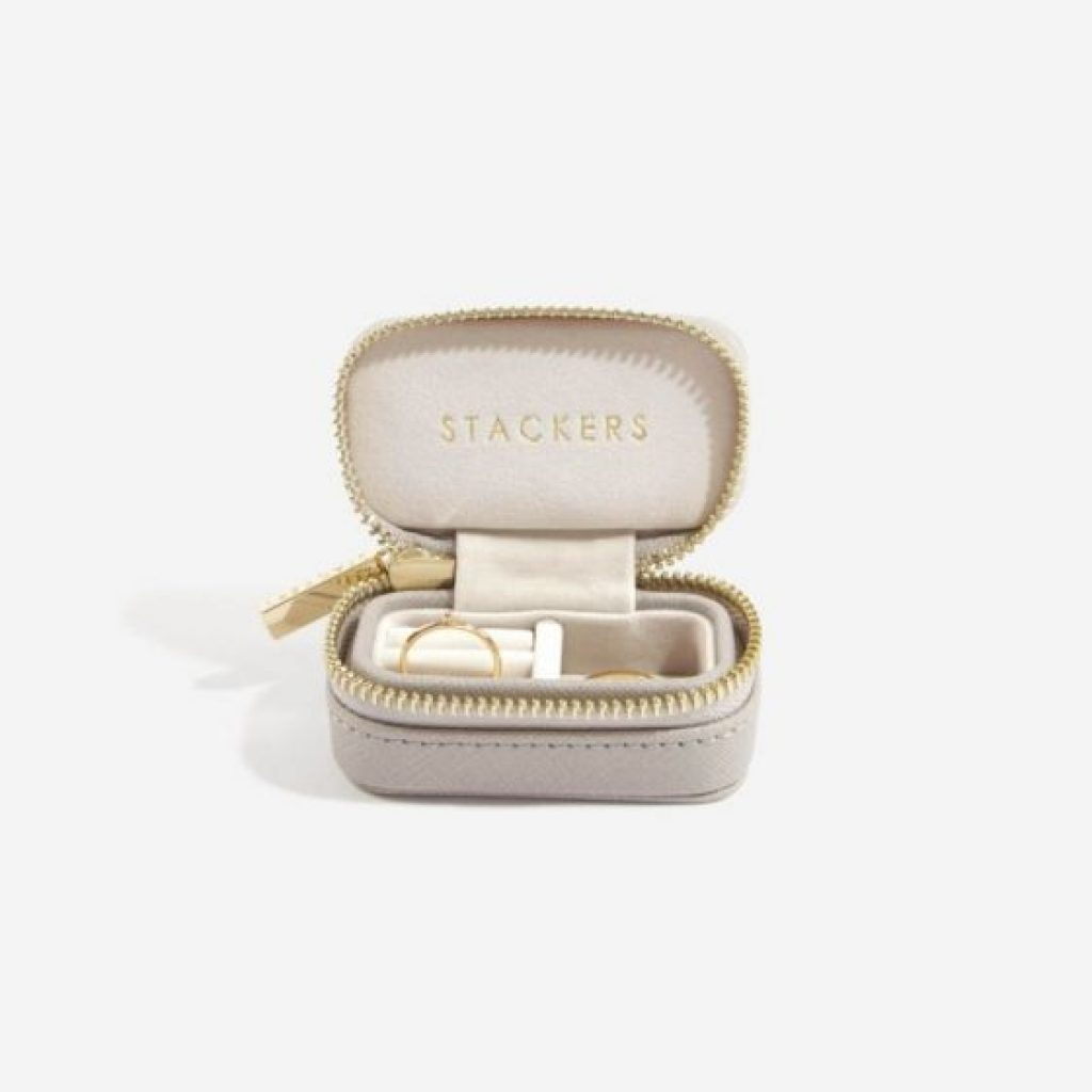 75341 - Taupe Stackers Travel Jewellery Box Small - £17