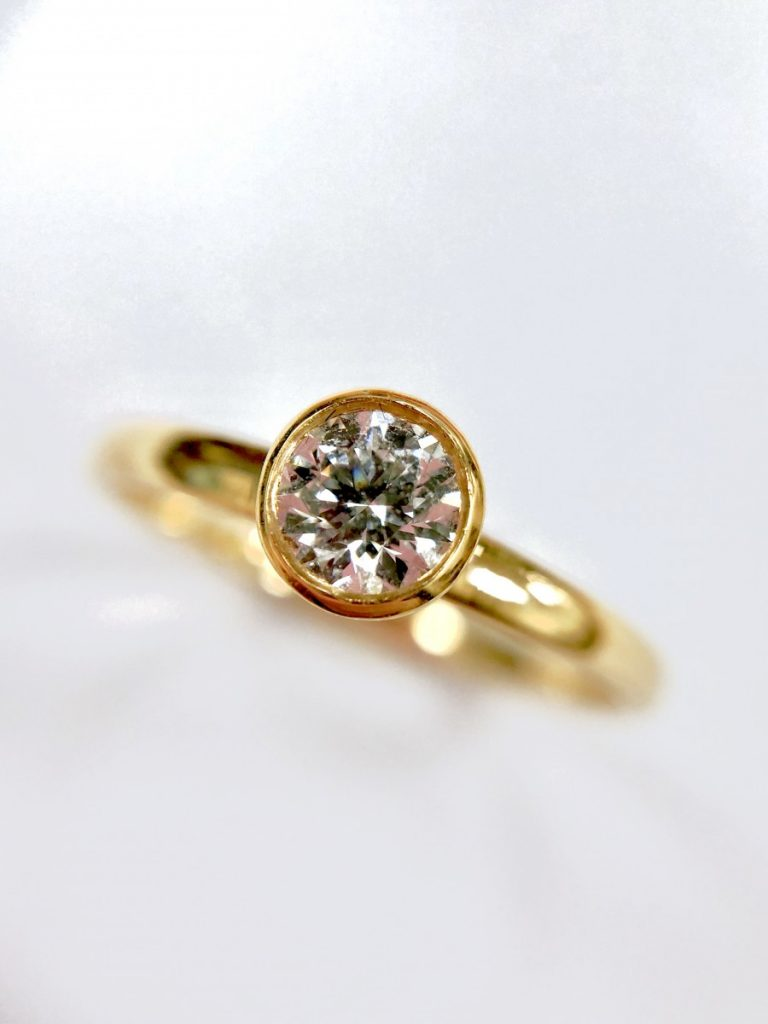 Poundland Placeholder Ring Dupe - Rose Gold Diamond Engagement Ring