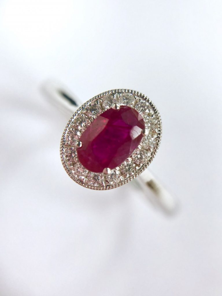 Poundland Placeholder Ring Dupe - Ruby & Diamond Engagement Ring