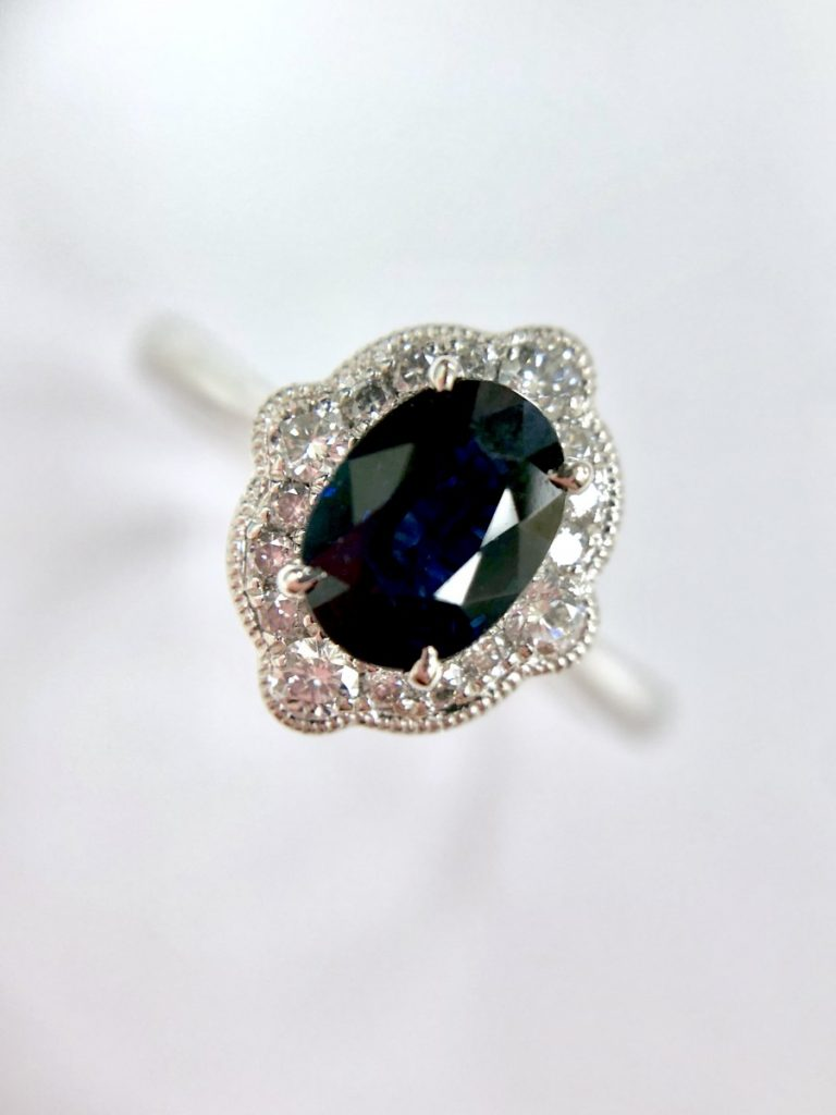 Poundland Placeholder Ring Dupe - Sapphire & Diamond Engagement Ring
