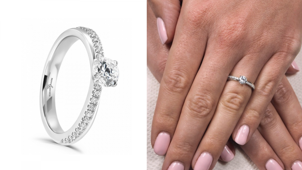 Brittany Snow - Diamond By Appointment Dupe Engagement Ring (1)
