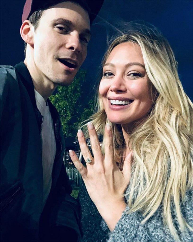 Hilary Duff Engagement Ring 2019 Cushion Cut Diamond Ring (1)
