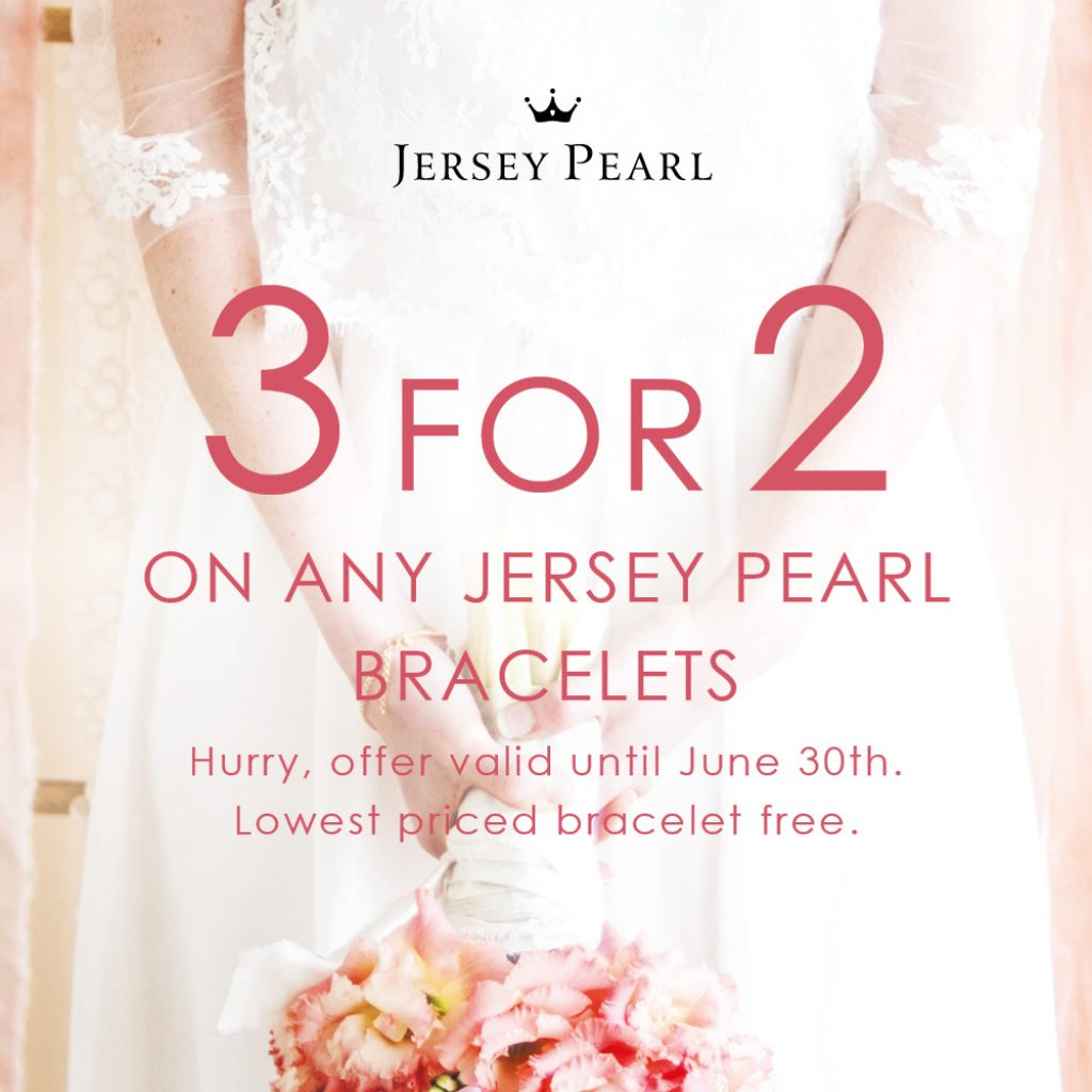 Jersey Pearl 3 for 2 Bracelets in June Offer