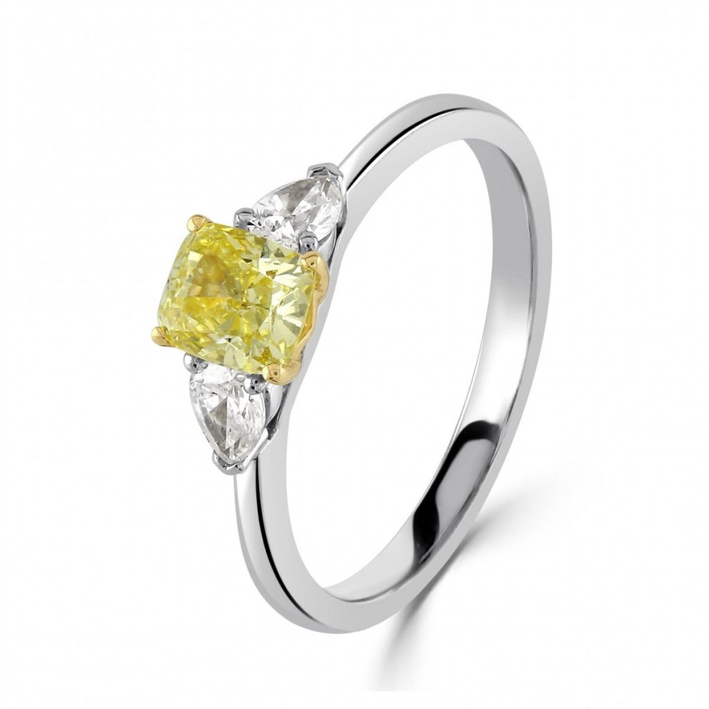 Lucy Mecklenburgh Engagement Ring - Yellow Diamond Engagement Ring