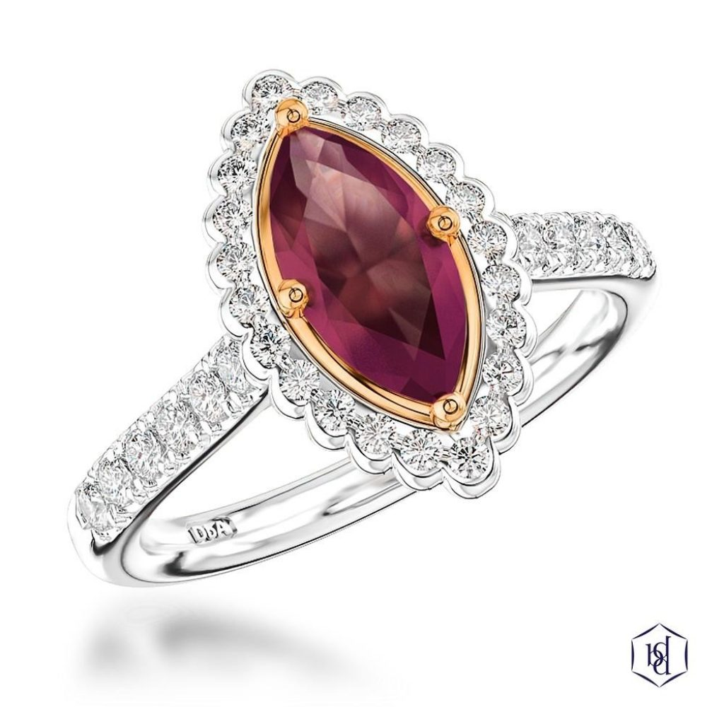 Faroe Marquise Engagement Ring, 1.27ct