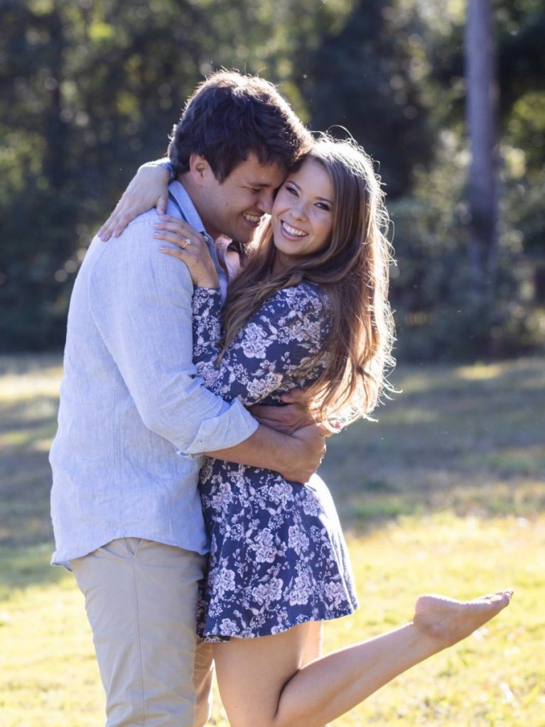Bindi Irwin and Chandler Powell Engaged Hug in Instagram Photo