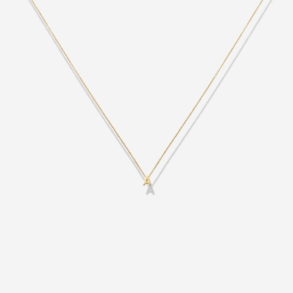 Meghan Markle Letter A Gold Initial Pendant