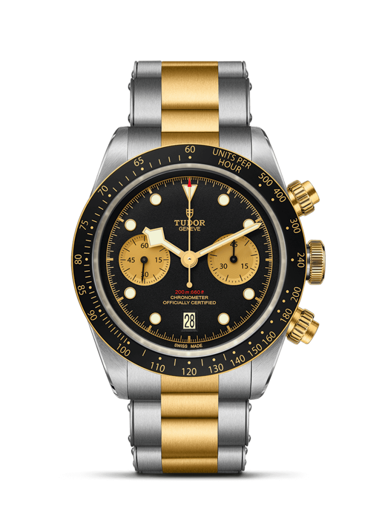 TUDOR Black Bay Chrono S&G Watch with Bracelet