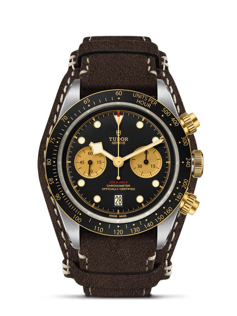 TUDOR Black Bay Chrono S&G Watch with Leather Strap