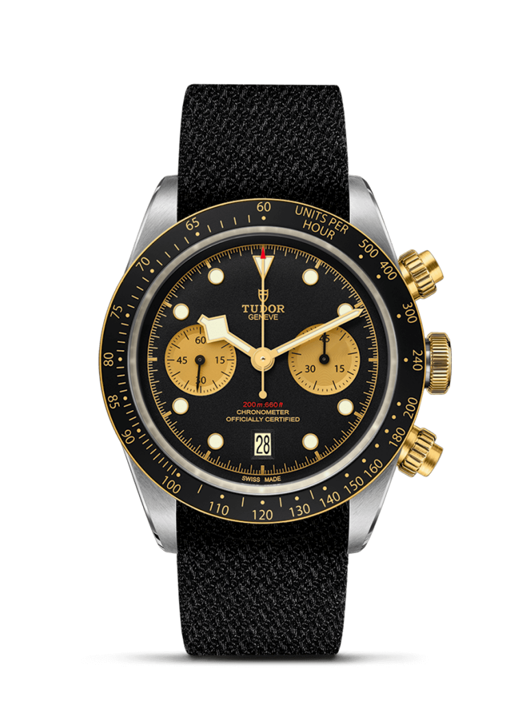 TUDOR Black Bay Chrono S&G Watch with Fabric Strap