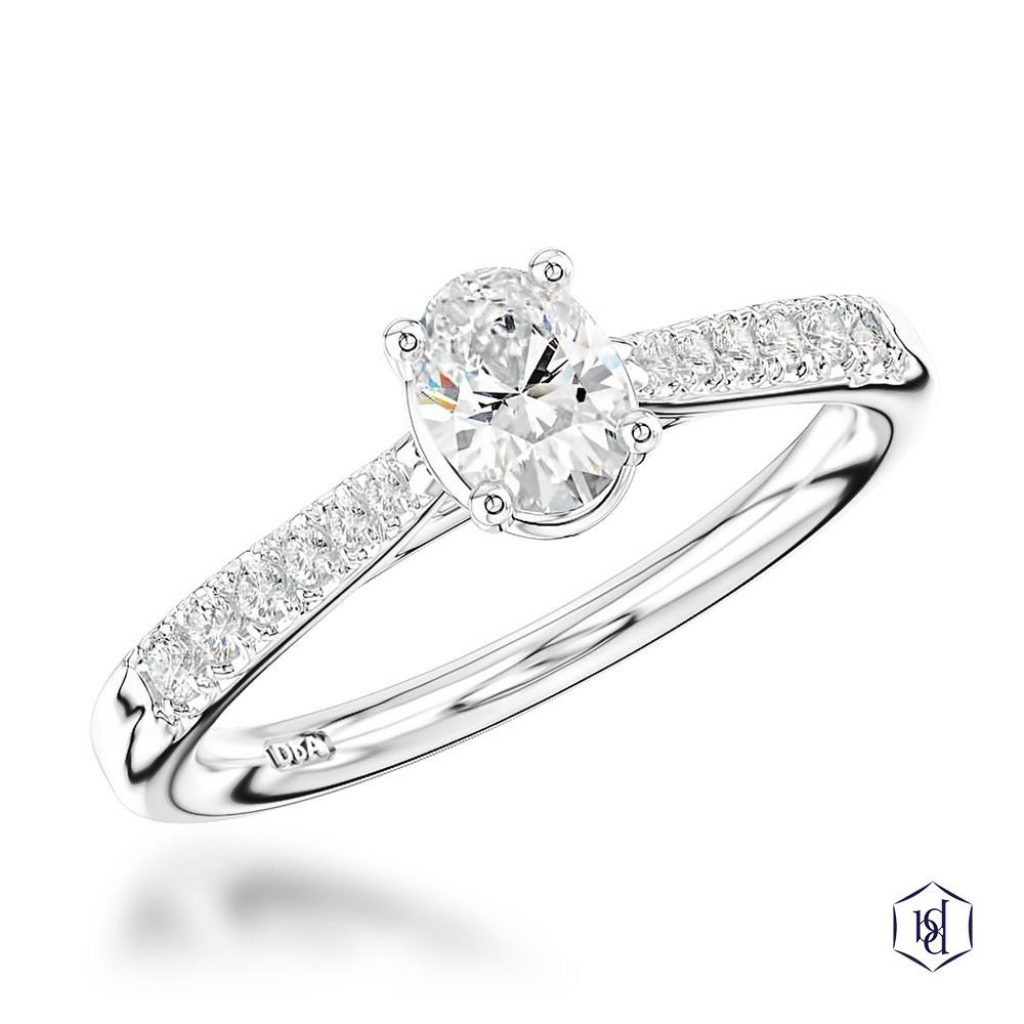 Skye Classic Oval Engagement Ring