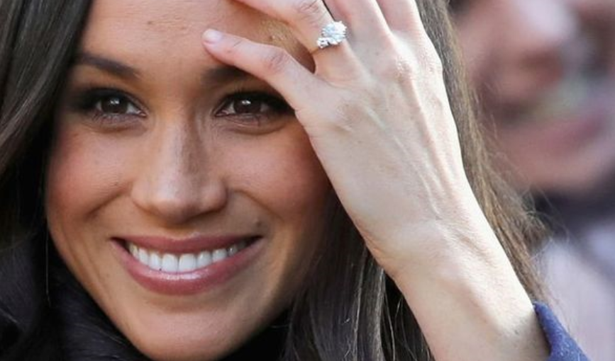 meghan markle three stone engagement ring