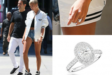 Double Take – How to Copy Hailey Baldwin's Oval-Cut Diamond Engagement Ring Style