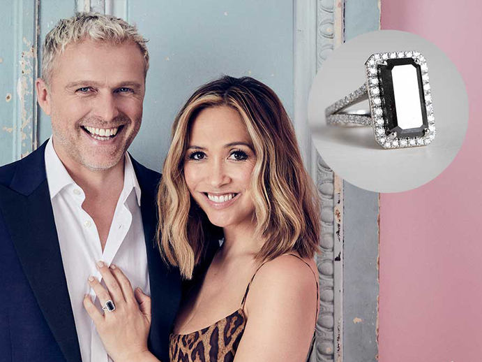 Myleene Klass is Engaged – Take a Closer Look at her Unique Diamond Engagement Ring