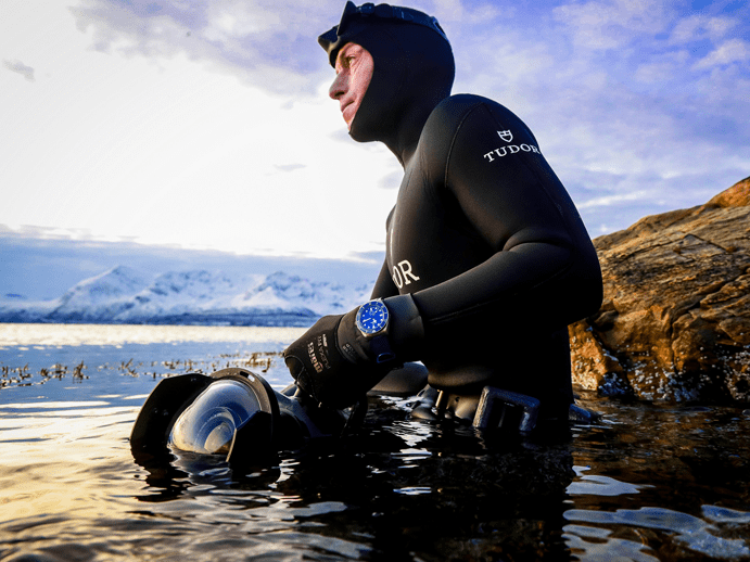 TUDOR Partners with World Champion Freediver Morgan Bourc'his on his ambitious new documentary 'The Quest for Nature'