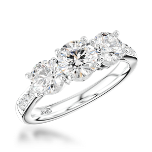 Diamond by Appointment Three Stone Engagement Ring