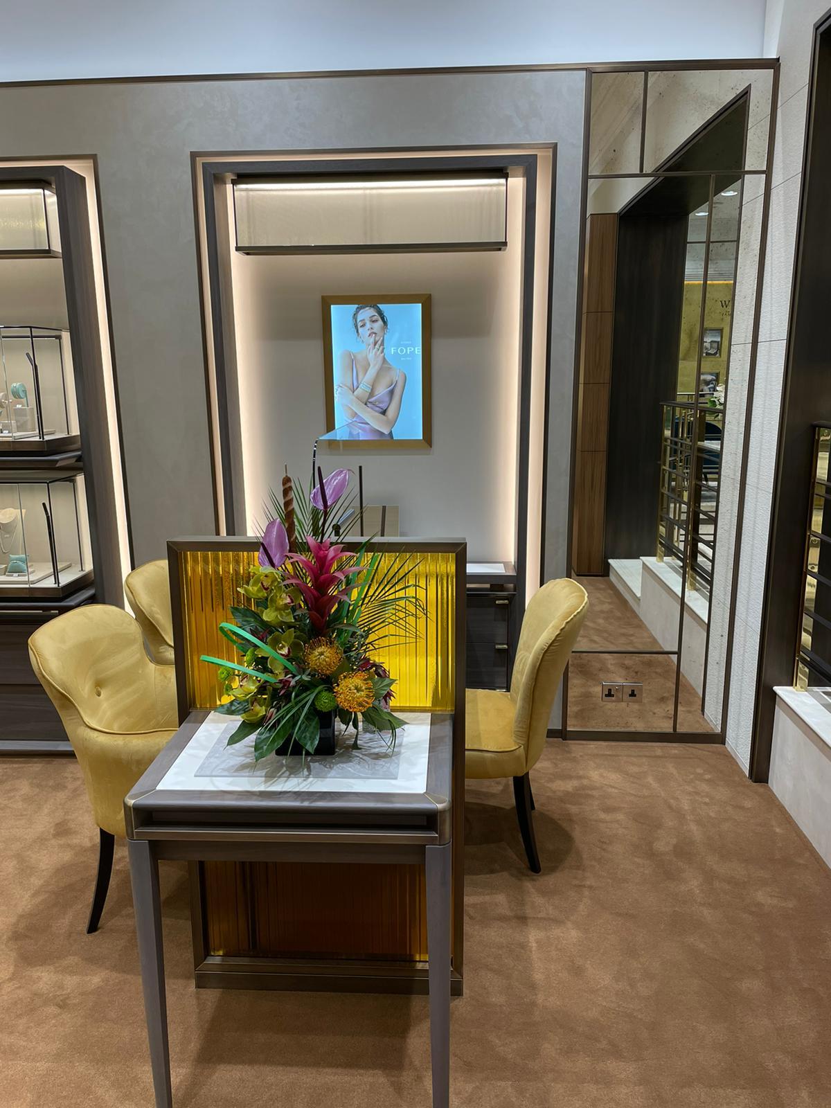 Wakefields Jewellers Refurbishment Reopening - Inside Store - FOPE Jewellery Display