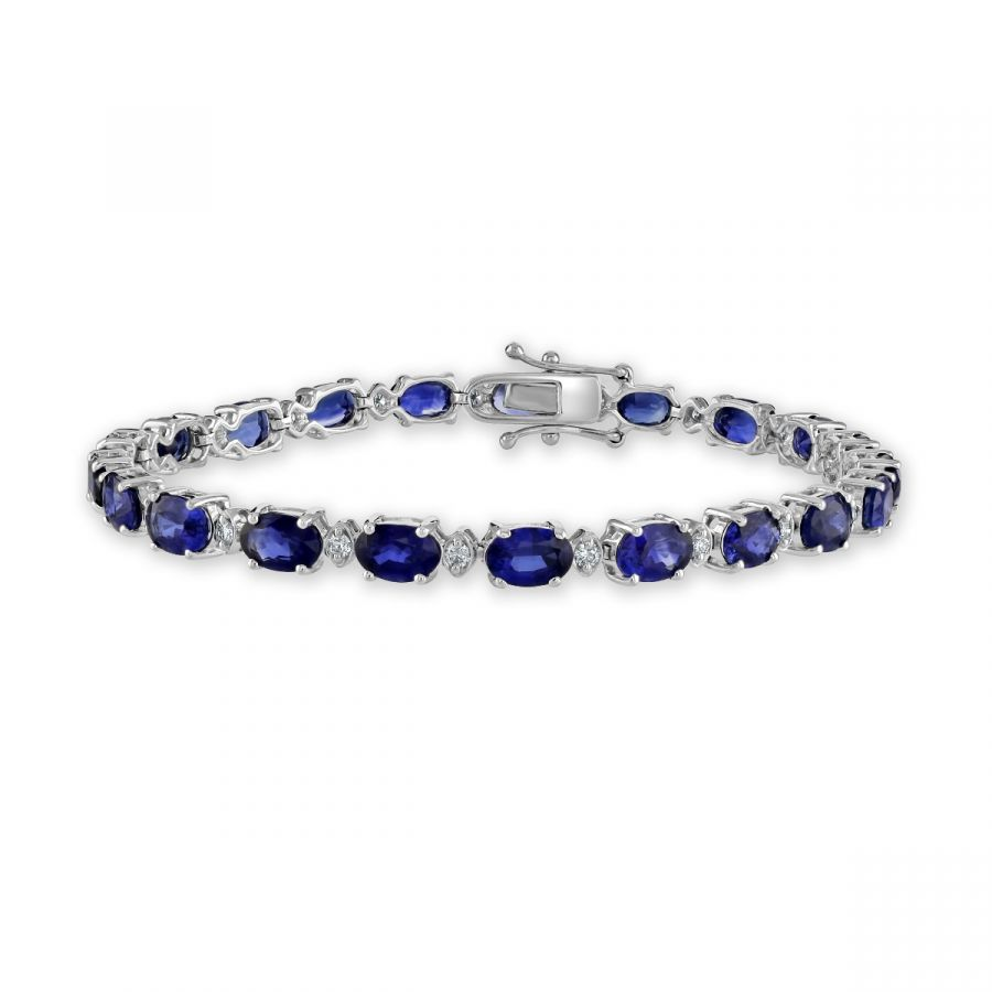 Sapphire & Diamond Bracelet SKU: 1522019
